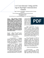 The Effect of Convolutional Coding and Bit Interleaving for Rayleigh Communication Channel