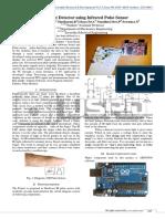 Heart beat detector using infrared pulse sensor