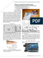 Heart beat detector using infrared pulse sensor