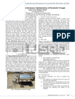 Fabrication and Performance Optimization of Parabolic Trough
