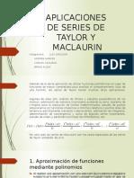 Aplicaciones de Series de Taylor y Maclaurin