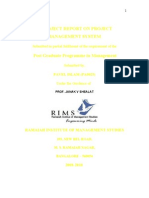 Project Report on PERT CPM