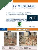 Safety Message - Rusunawa