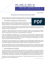 PR - Sixth Meeting of the International Advisory Board of SEBI