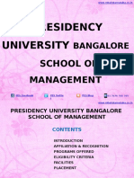 Presidency University Bangalore|MBA|School of Management