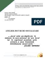 Atelier Joc Scoala