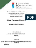 Assignment Urban Future Transpotr