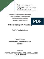 Assignment Urban Traffic Calming