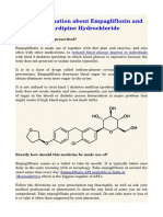 Brief Information About Empagliflozin and Nicardipine Hydrochloride