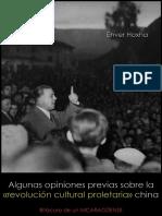 Algunas Opiniones Previas Sobre La Revolución Cultural Proletaria China - Enver Hoxha