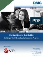 VPI DMG Contact Center QA Guide - Building a World-Class Quality Assurance Program