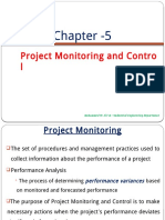 Chapter 5 Project Monitoring and Control