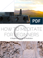 How to Meditate for Beginners Guide