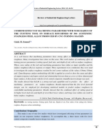Combind Effect ofCOMBIND EFFECT OF MACHINING PARAMETERS WITH NOSE RADIUS OF THE CUSTTING TOOL ON SURFACE ROUGHNESS OF 304- AUSTENITIC STAINLESS STEEL ALLOY PRODUCED BY CNC-TURNING MACHIN Machine Tool & Serface Roughness Pak Publishing Group