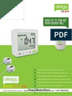 Efergy Energy Monitoring Solutionser Meter Datasheet