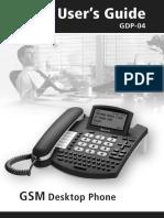 Manual Del Usuario Telefono GSM de Mesa