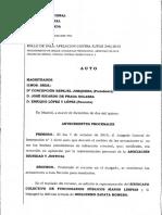 Auto y Voto Particular- Guillermo Zapata