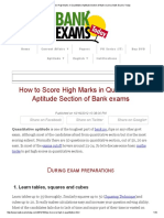 How to Score High Marks in Quantitative Aptitude Section of Bank Exams _ Bank Exams Today