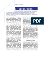 Tao of Alpha