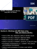 4) Working With DB2 Data Using SQL and XQuery