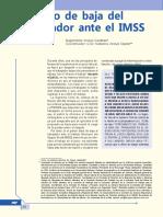El Aviso de Baja Del Trabajador Ante El IMSS