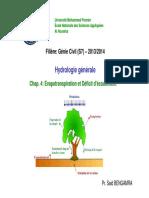 Cours Hydrologie GC - Evapo