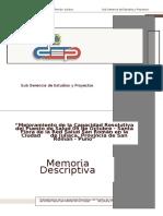 Memoria Descriptiva Santa Flora