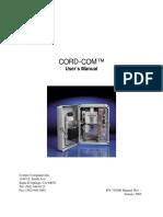 CORD-COM Remote Monitor Manual