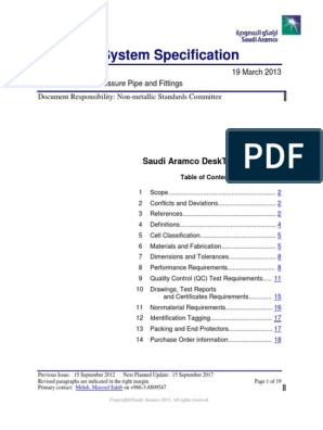 01-SAMSS-034 pdf | Pipe (Fluid Conveyance) | Fiberglass