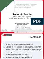 Presentación Del Ministro Del Ambiente Ante La Comisión de Pueblos Andinos