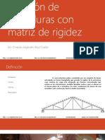 Solucion de Armaduras Con Matriz de Rigideces Parte1