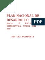 Plan Nacional de Desarrollo 2010-2014 Sector Transporte