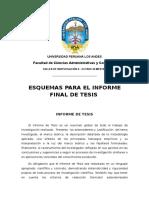 Esquema de Informe de Tesis - Model 2 (Taller de Inv II)