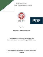 Mmc Metrology (Au-503) Exp. Manual