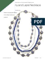 Chalcedony Lapis Necklace