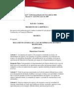 Decreto Sobre El Reglamento General de La Ley de Empresas de Seguros y Reaseguros d 3232