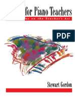 Gordon, S. - Etudes for Piano Teachers - Reflections on the Teacher's Art