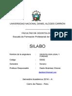 Silabo de Odon Legal 2014