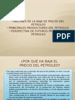 Razones de Baja de Precio Del Petroleo