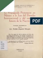 La propaganda protestante en Mexico