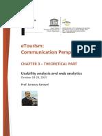 USI MOOC ETourism Video Script Chapter 3 Theoretical Part