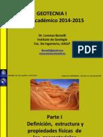 Definición, estructura y propiedades físicas de los geomateriales (rocas y suelos)