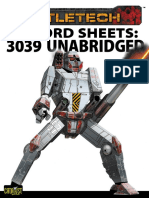 Battletech Record Sheets 3039 Unabridged