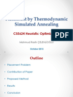 Placement by Thermodynamic Simulated Annealing
