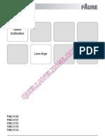 Faure Fwq 5118 Lave Linge Notice 1746