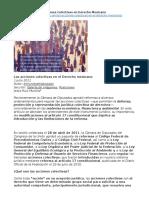 Acciones Colectivas en Derecho Mexicano