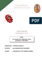 Acero en El Mercado Local, Regional y Nacional