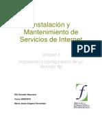 Unidad 4 Instalacion y Configuracion de Un Servidor FTP