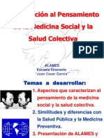 EXPOSICIÓN Pensamiento de La Medicina Social