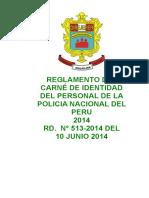 Reglamento Del Cip de La Pnp 2014